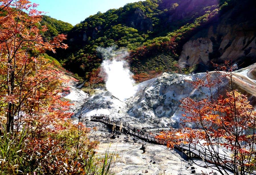北海道登別温泉地獄谷
