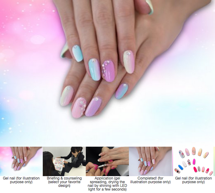Kawaii gel nail