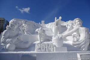 Impressive Snow Sculptures at the Sapporo Winter Festival