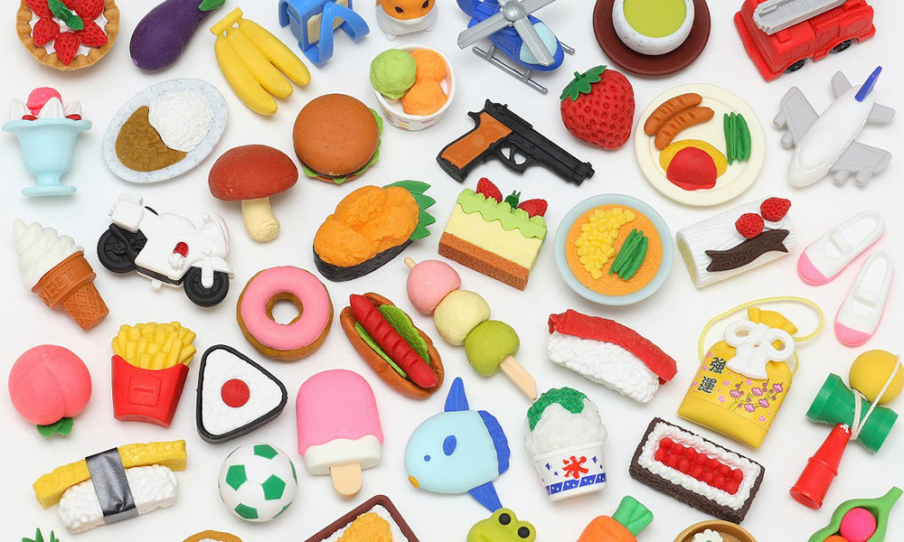 """""""Japanese erasers"""" created by coral"""