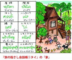 旅の指さし会話帳1タイ(タイ語)[第3版]の家