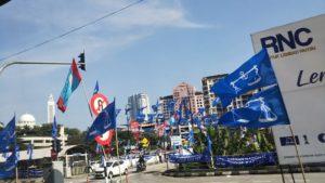 マレーシア総選挙レポート1 街を埋め尽くす旗、旗、旗