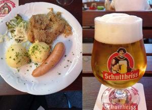 ベルリンの居酒屋での夕食