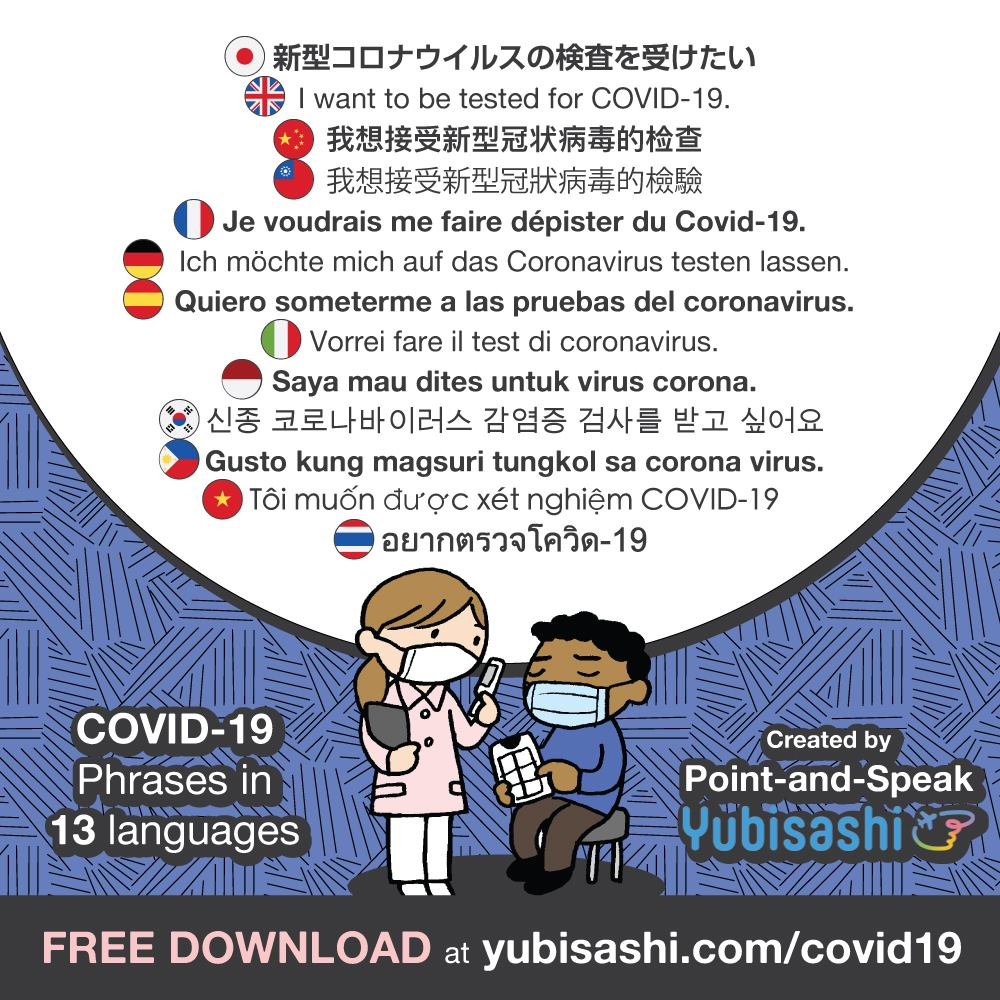 新型コロナウィルス対応 指さし会話 Point-and-Speak YUBISASHI for COVID-19