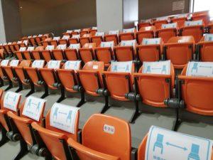 観客席の着席不可