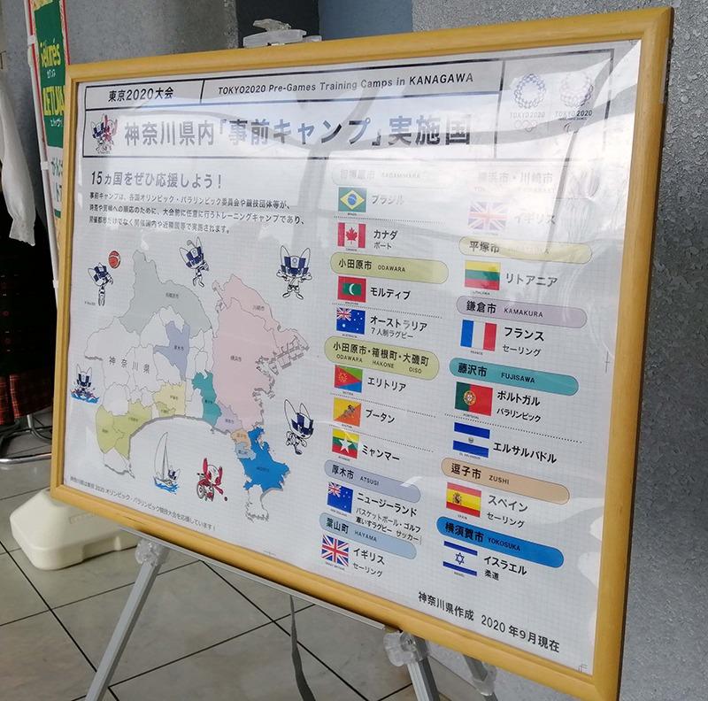 神奈川県のホストタウンを紹介するパネル