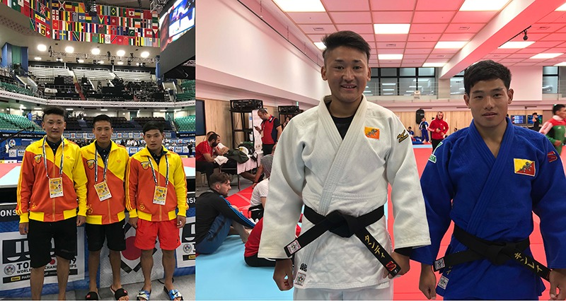 2019年に東京・日本武道館で行われた世界柔道選手権大会にブータンの選手たちも出場