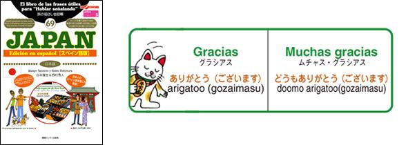 世界の言葉 日本語(スペイン語版)ありがとう